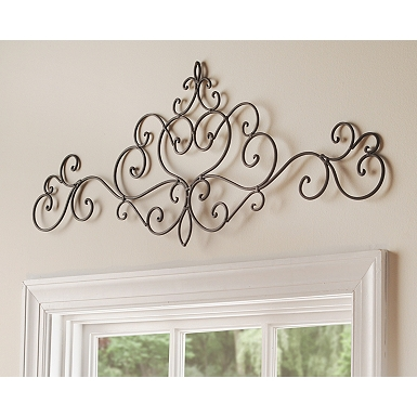 scrolled metal salaets plaque - Wall Decorations