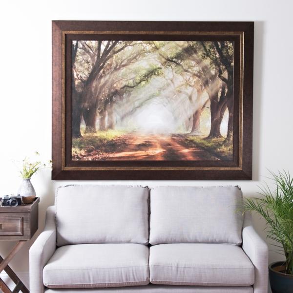 Evergreen Plantation Framed Print