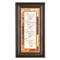 Thank God Framed Print