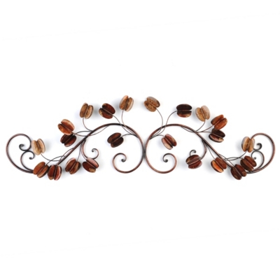 Coffee Bean Flower Plaque