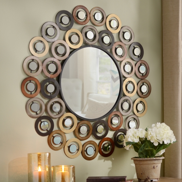 metallic dots mirror kirklands - Decorative Mirror
