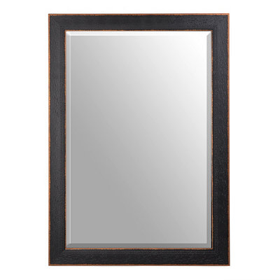 Black Bead Framed Mirror, 30x42
