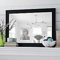 Black Bead Framed Mirror, 30x42 in.
