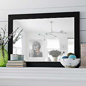 Black Bead Framed Mirror, 30x42 in.