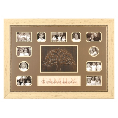 Cream Family Tree Collage Frame