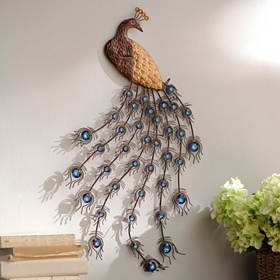 Jeweled Peacock Plaque