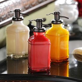Glass & Metal Soap Pump