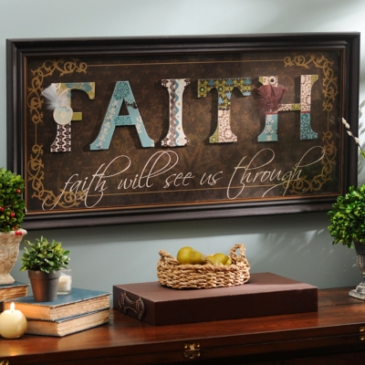Brown Faith Scrapbook Shadowbox