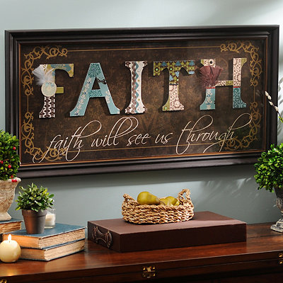 Faith Scrapbook Shadowbox