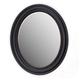 Black Oval Mirror, 28x34