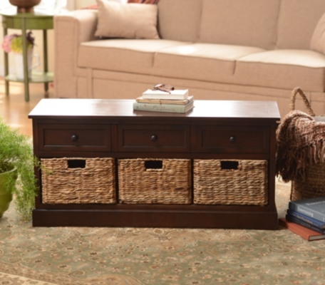 Brown Storage Bench