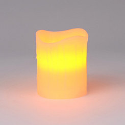 Flameless Ivory Pillar Candle, 4 in.