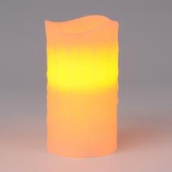 Flameless Ivory Pillar Candle, 6