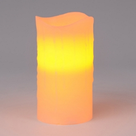 Flameless Ivory Pillar Candle, 6""