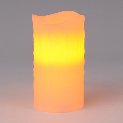 Flameless Ivory Pillar Candle, 6
