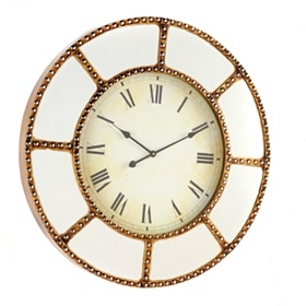 Mirrored Clock, 36 in.