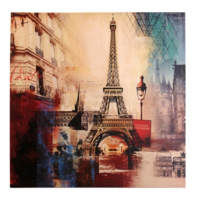 Eiffel Tower City Canvas Print