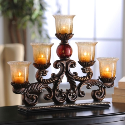 Red Ball Runner With Votives