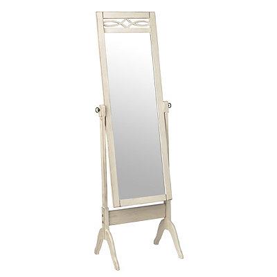 Antique White Cheval Floor Mirror
