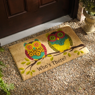 Rubber Owl Doormat