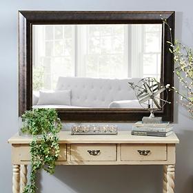 Bronze & Gold Framed Mirror, 32x44 in.