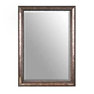 Antiqued Silver Framed Mirror, 30x42 in.