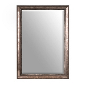 Antiqued Silver Framed Mirror, 30x42