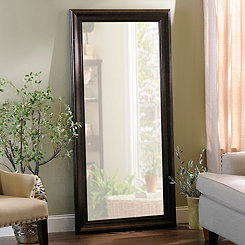 Beaded Bronze Framed Mirror, 32x66 in.