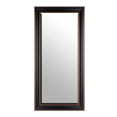 Black Full Length Beveled Mirror, 32x66