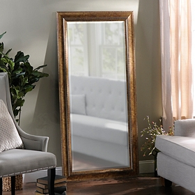 Antique Gold Full Length Mirror, 32x66 in.