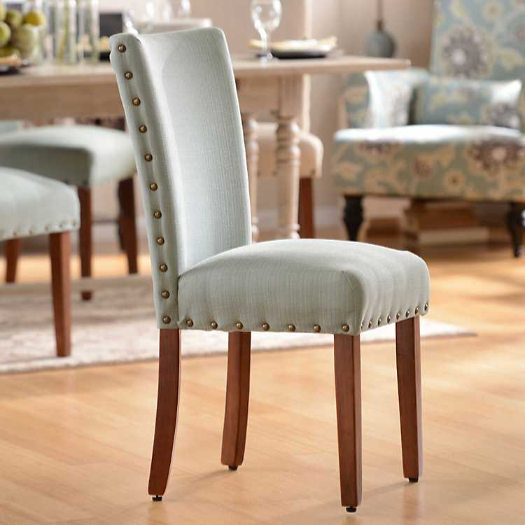 Dining Room Chairs: Seafoam Parsons Chair