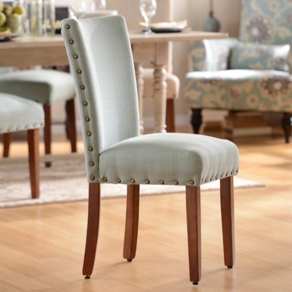 Charmant Seafoam Parsons Chair