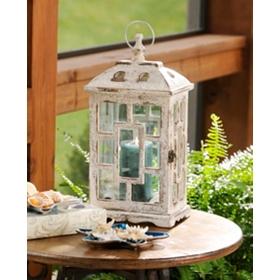 Antiqued White Lantern
