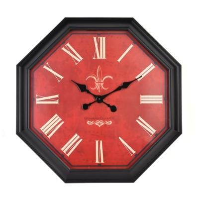 Red Octagonal Clock