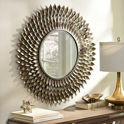 Decorative mirrors frameless mirror kirklands for Fancy mirrors for bedrooms