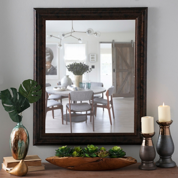 Awesome Bronze Framed Mirror, 27x33