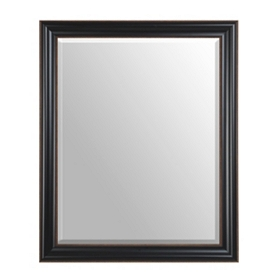 Black Framed Mirror, 28x34