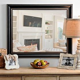 Black Framed Mirror, 28x34