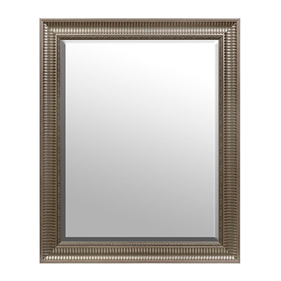 Silver Framed Mirror, 28x34