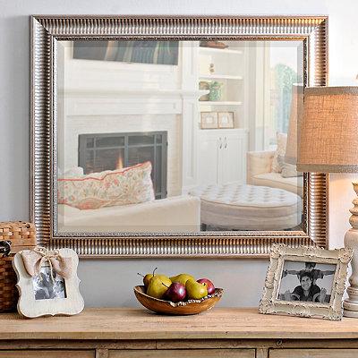 Silver Framed Mirror, 28x34