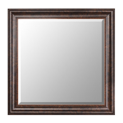 Bronze Framed Mirror, 30x30