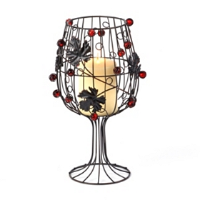 Wine Metal Candle Holder