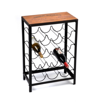 Wood & Metal French Wine Rack