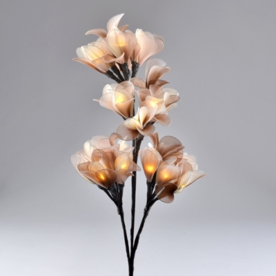 Pre-Lit Brown & Cream Organza Branch