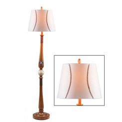 Wood Baseball Little League Floor Lamp