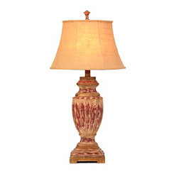 Rustic Red Table Lamp