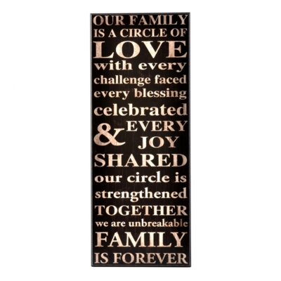 Our Family Art Plaque