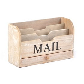 Wood Storage Mail Sorter