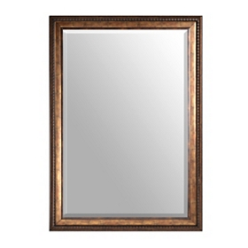 Antiqued Gold Framed Mirror, 30x42