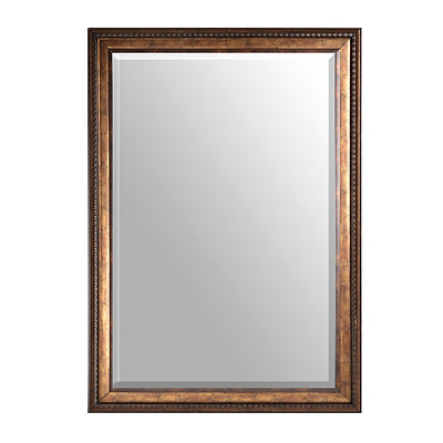 Antiqued Gold Framed Mirror, 30x42
